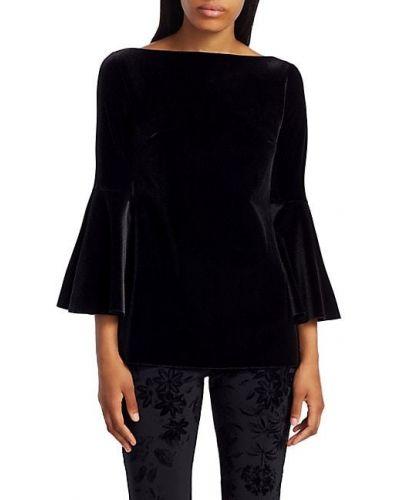 Бархатный черный топ с декольте Chiara Boni La Petite Robe
