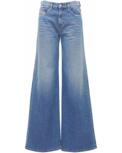 Bawełna niebieski jeansy z kieszeniami Diesel