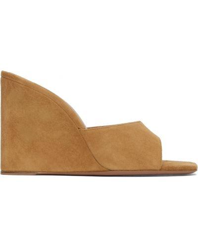 Кожаные сандалии - розовые Amina Muaddi