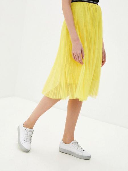 Плиссированная юбка весенняя желтый Shelter
