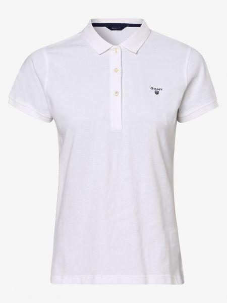 Biała t-shirt bawełniana Gant