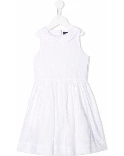 Платье плиссированное белое Ralph Lauren Kids
