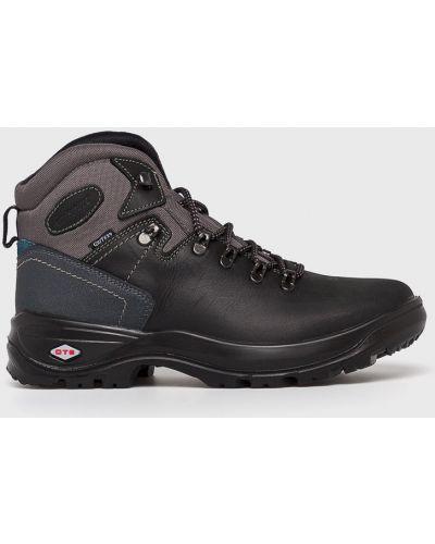 Кожаные ботинки мембранные на шнуровке Grisport