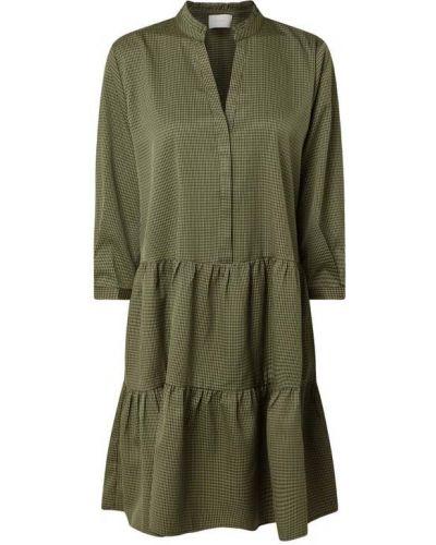 Zielona sukienka mini z falbanami Neo Noir