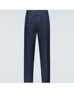 Niebieskie spodnie bawełniane Ami