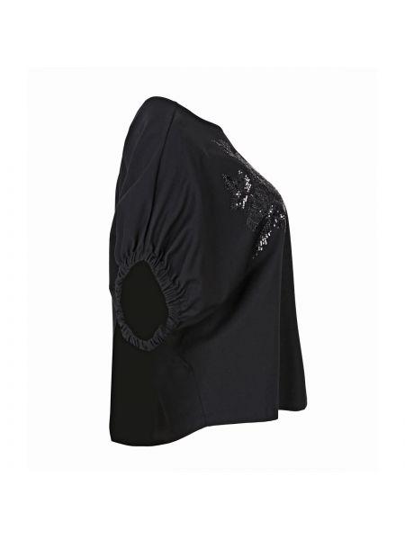 Футбольная черная футболка из вискозы оверсайз Mat Fashion