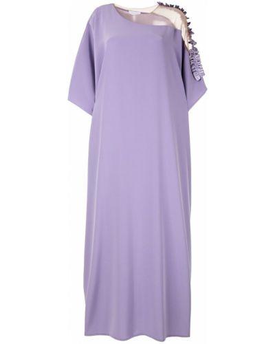 Фиолетовое расклешенное платье мини Mounay