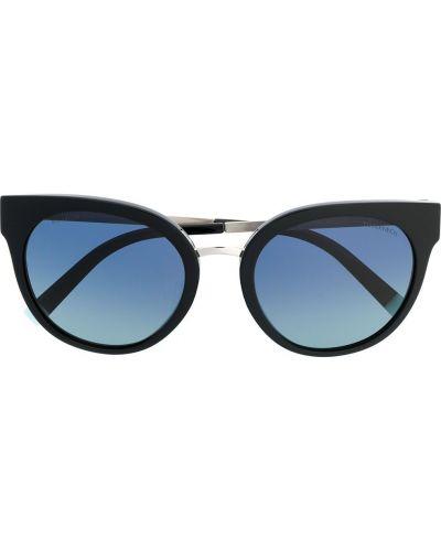 Черные солнцезащитные очки металлические Tiffany & Co Eyewear
