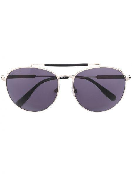 Серебряные солнцезащитные очки квадратные металлические с завязками Dsquared2 Eyewear