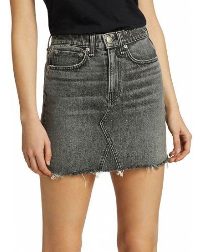 Klasyczna czarna spódnica mini bawełniana Rag & Bone