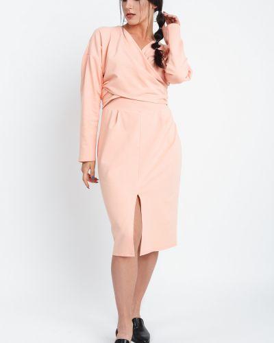 Платье с поясом с запахом персиковое Lacywear