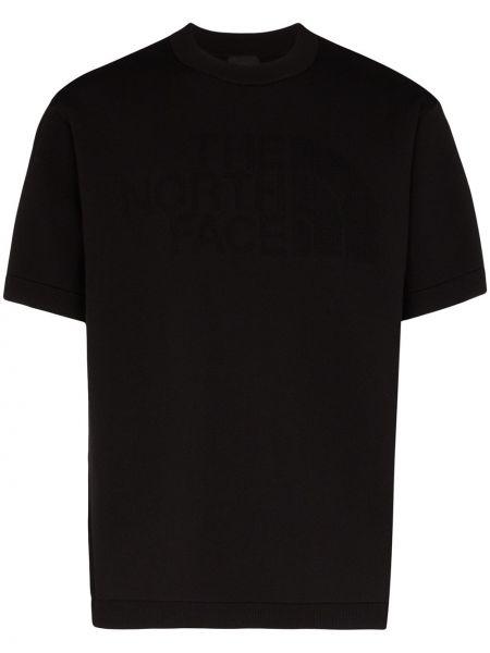 Czarny t-shirt z printem z nylonu The North Face Black Series