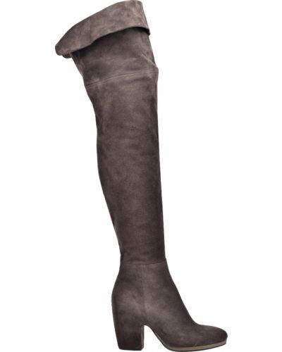 Ботфорты на каблуке кожаные замшевые Vic Matie