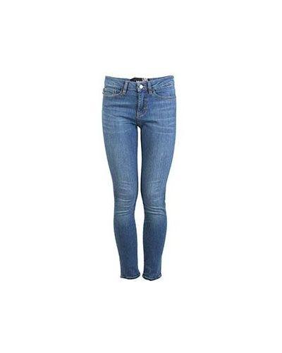 Синие джинсы-скинни Moschino Love