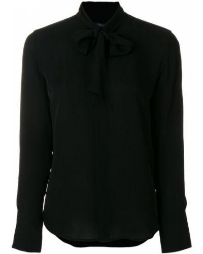 Рубашка с длинным рукавом с воротником-стойкой с бантом Polo Ralph Lauren