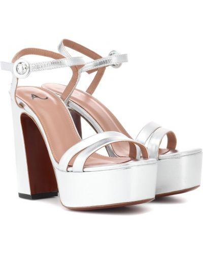 Sandały skorzane Alexachung
