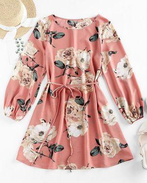 Платье мини макси с поясом Zaful