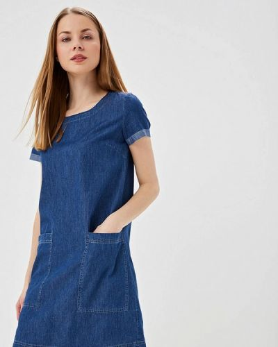 Джинсовое платье весеннее синее Sela