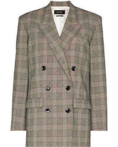 Черный удлиненный пиджак с карманами на пуговицах Isabel Marant