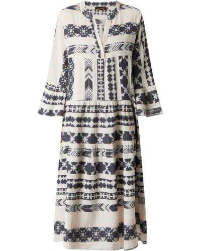 Sukienka rozkloszowana - biała Miss Goodlife