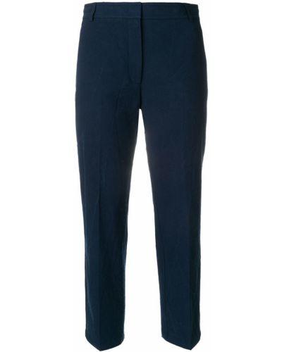 Укороченные брюки со складками с карманами Thom Browne