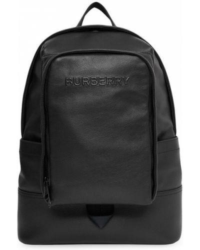 Czarny plecak skórzany Burberry