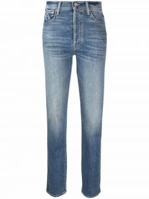 Синие джинсы стрейч Mother