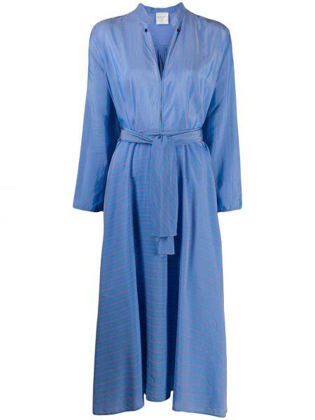 Платье миди в полоску с V-образным вырезом Forte Forte