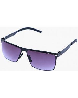 Черные солнцезащитные очки квадратные с завязками Luckylook