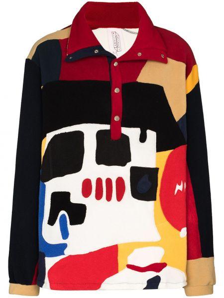 Włókienniczy prosto czarny koszulka polo z długimi rękawami Bethany Williams