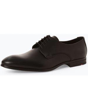 Buty skórzane zasznurować czarne Lloyd