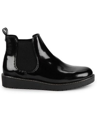 Ботинки челси на каблуке - черные Anne Klein