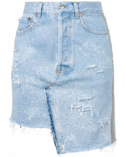Джинсовая юбка - синяя Forte Dei Marmi Couture