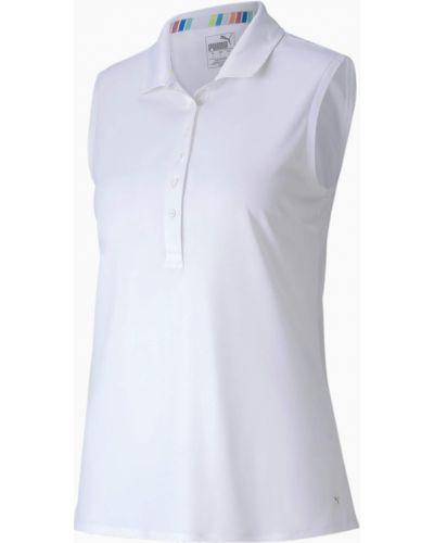 T-shirt bez rękawów - biała Puma