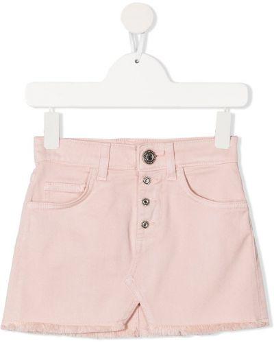 Синяя джинсовая юбка с карманами на кнопках Dondup Kids