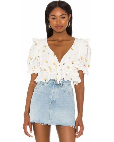 Льняная блузка - белая For Love & Lemons