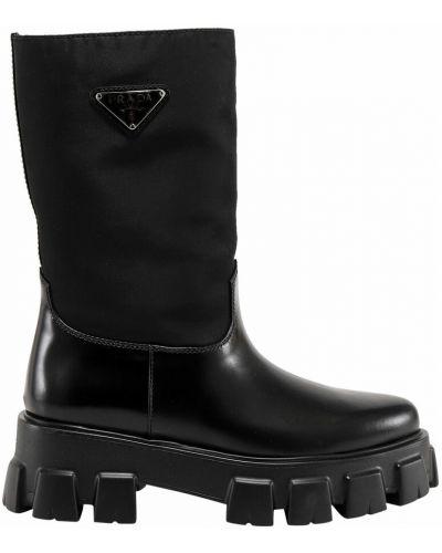 Czarne ankle boots Prada
