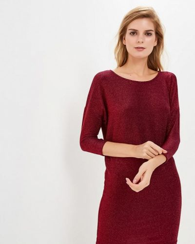 Вечернее платье осеннее красный Sh