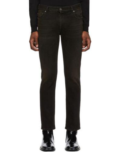 Skórzany czarny obcisłe dżinsy z kieszeniami chudy Balenciaga