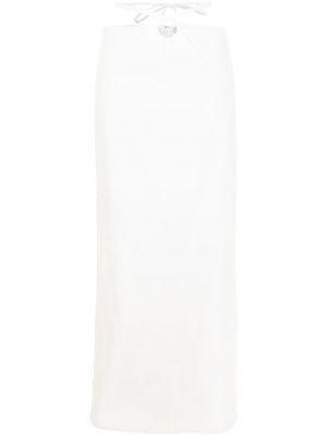 Юбка макси с завышенной талией - белая Christopher Esber