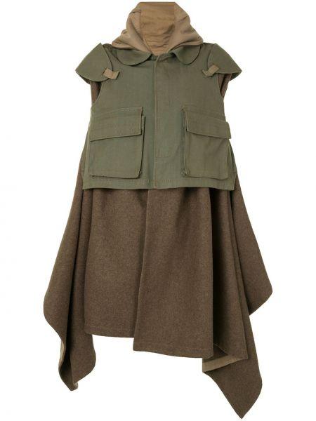 Длинное пальто зеленое милитари Comme Des Garçons Pre-owned