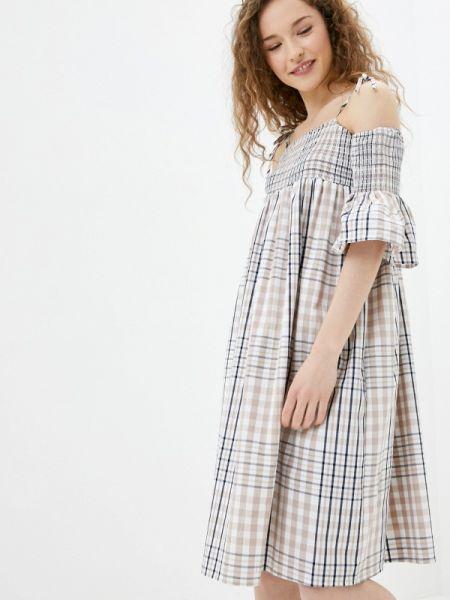 Бежевое платье Sh