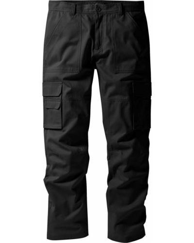 Черные брюки карго с карманами для беременных Bonprix