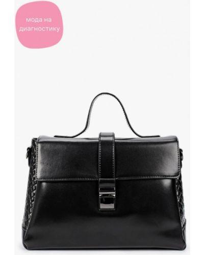 Черная сумка с ручками из натуральной кожи снежная королева