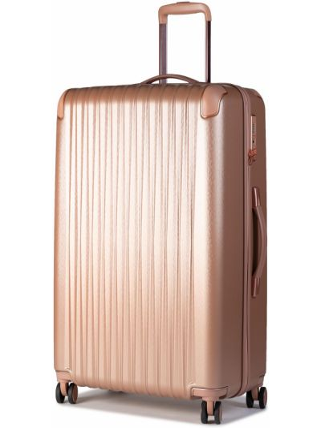 Różowa walizka duża Titan