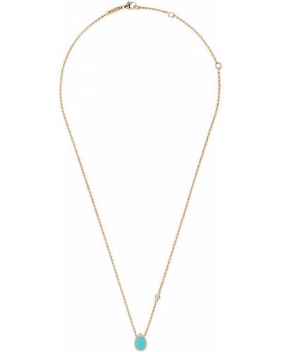 Złoty naszyjnik z diamentem turkusowy Boucheron