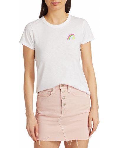 Biały t-shirt bawełniany krótki rękaw Rag & Bone