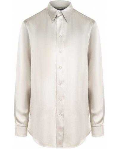 Блузка с воротником шелковая Ralph Lauren