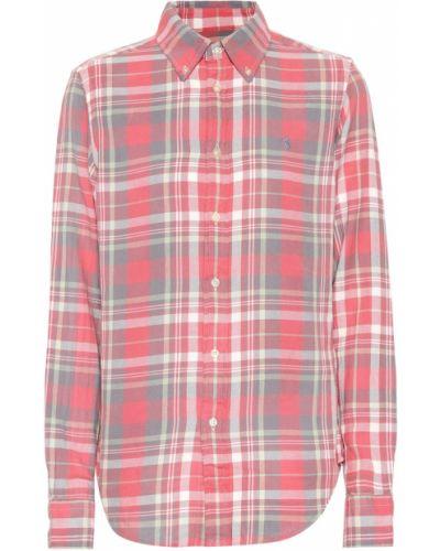 Классическая рубашка в клетку с принтом Polo Ralph Lauren