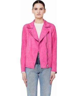 Кожаная куртка на молнии - розовая Salvatore Santoro